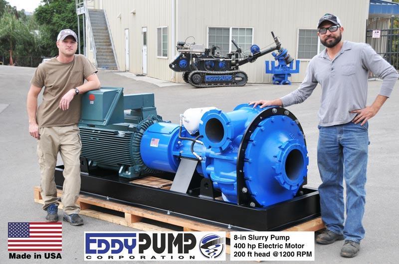 8-inchスラリーポンプ400 hp電動モーター