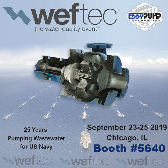 WEFTEC 2019 – EDDY Pump at Booth 5640