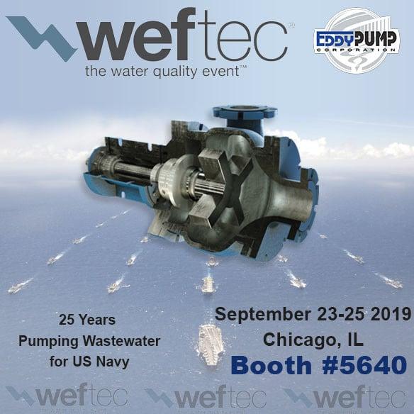 WEFTEC 2019 – EDDY Pump at Booth 5640