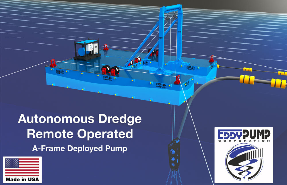 autonomous-a-frame-dredge-pump-remote-operated