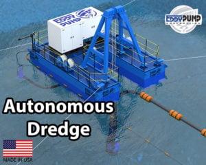 autonomous dredge barge equipment eddy pump