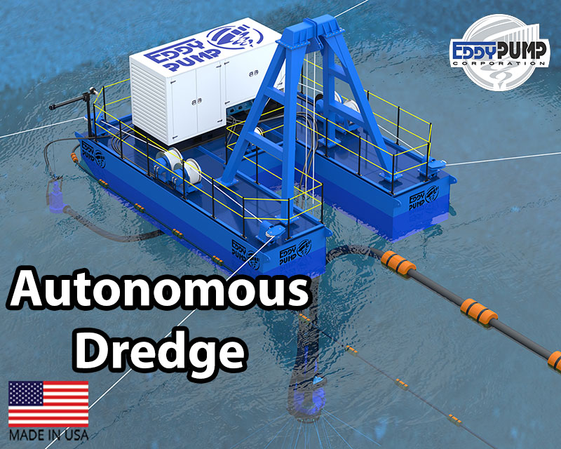 autonomous dredge barge equipment eddy pump