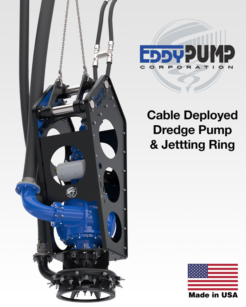 cable hung dredging applications