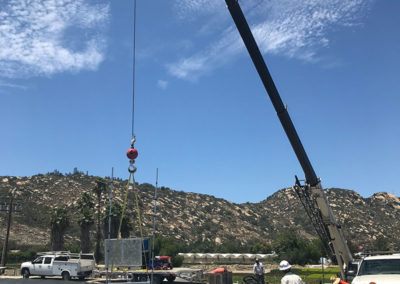 dredge sled crane deployed