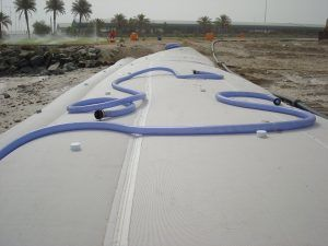 dewatering ถุง geotubes