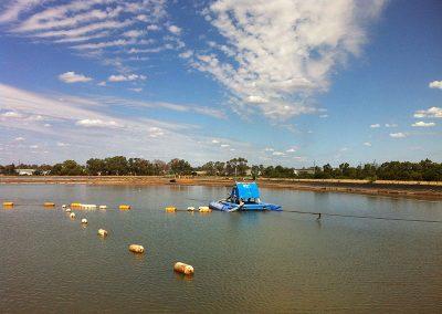 lagoon sediment pump dredge