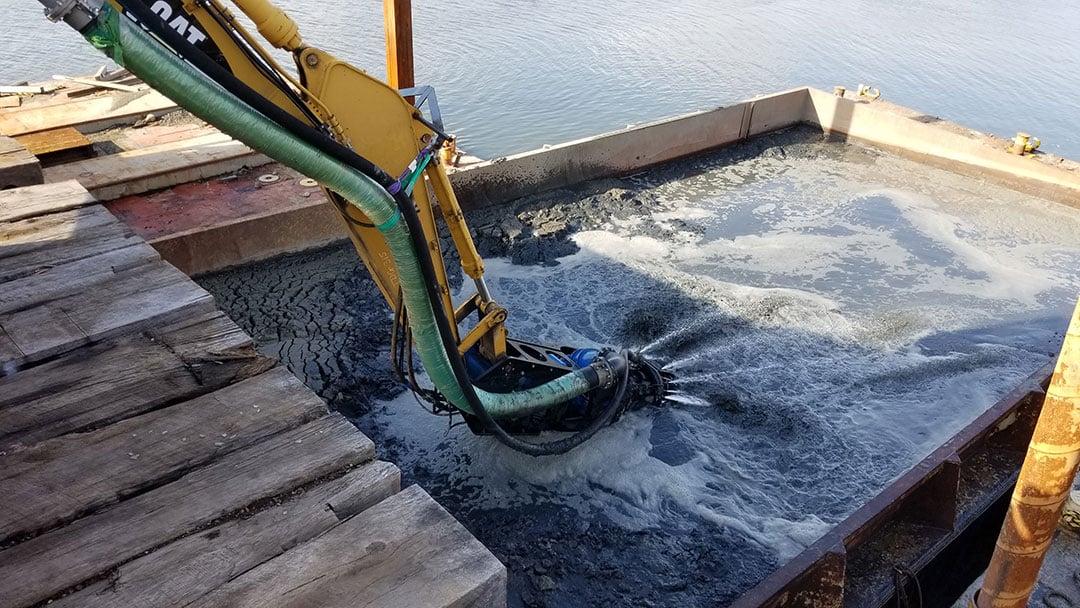 slurry hose excavator eddy pump attachment