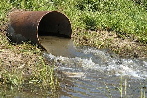 effluent discharge pipe