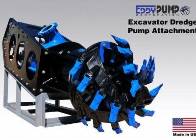 Excavator 6-inch Dredge Pump Attachment With Cutterhead - Front