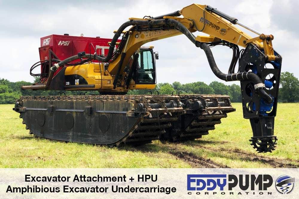 amphibious excavator dredging applications