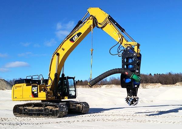 Frac-Sand-Verarbeitung-Bagger