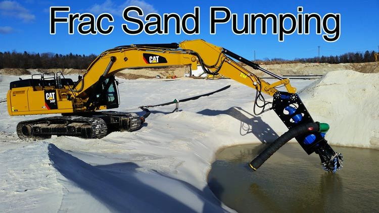 excavator-dredger-pumping-frac-sand