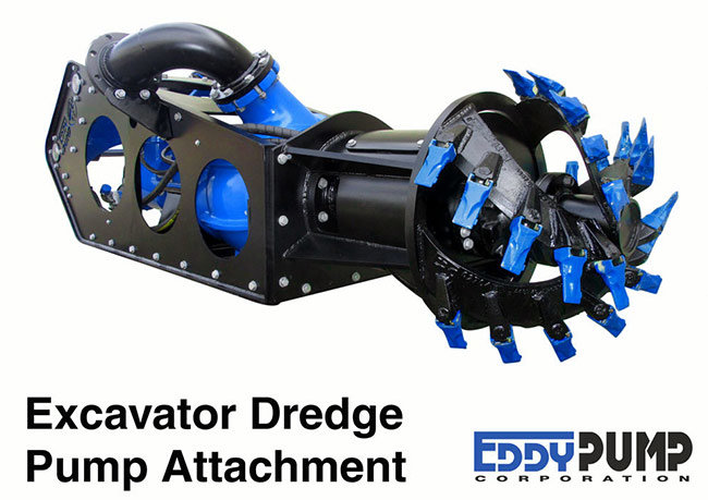 eddy pump excavator dredge pump attachment
