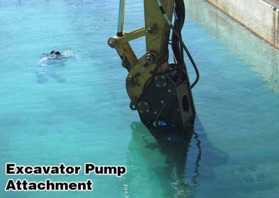 Excavator pump is fully submersible