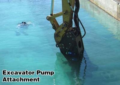 A bomba de escavadeira é totalmente submersível