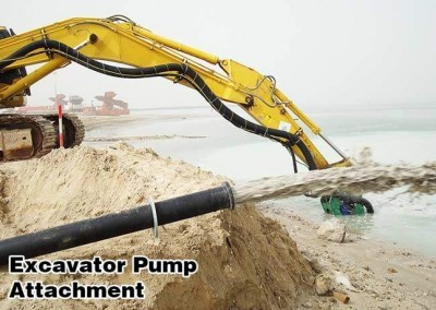 6-inci excavator mengeruk pompa bergerak pasir di Dubai, UAE proyek