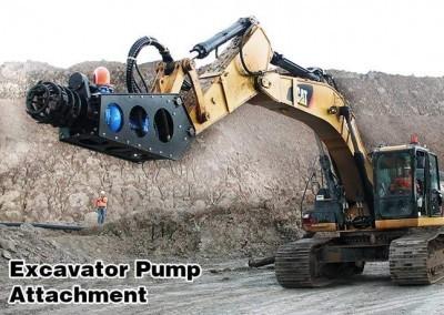 Excavator dipasang mengerut pompa pengikat pada Cat