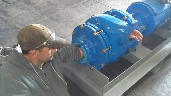 Bomba de grão para águas residuais