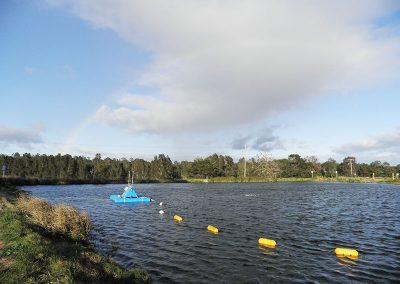 lagoon sediment dredging by equipment