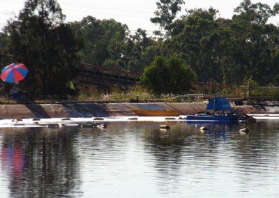 lagoon dredge equipment operators with unit