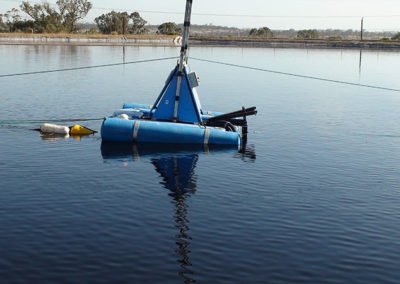 dredge sled unit cleaning lagoon