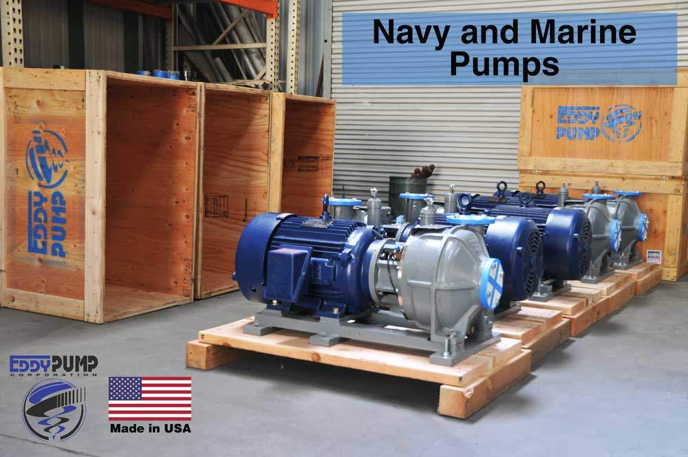 Navy and Marine Wastewater and Bilge EDDY Pumps