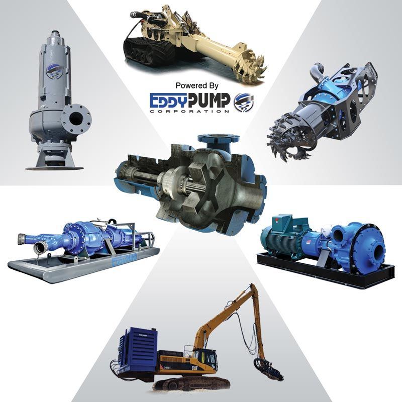 Dredging Equipment OEM - Dredges, Excavator Pumps - EDDY Pump