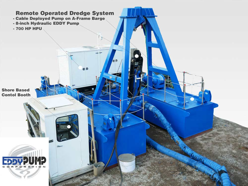 remote operated dredge system
