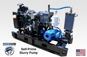 self prime slurry pump diesel powered