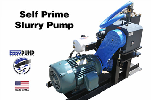 EDDY Self Priming Slurry Pump - Front View
