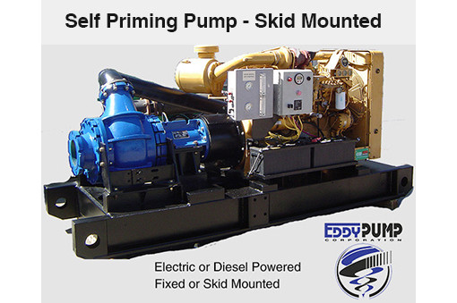 EDDY Self Priming Slurry Pump - Skid Mounted