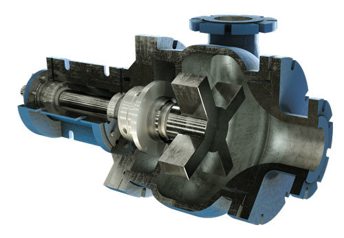 Cut-away-view-slurry-pump