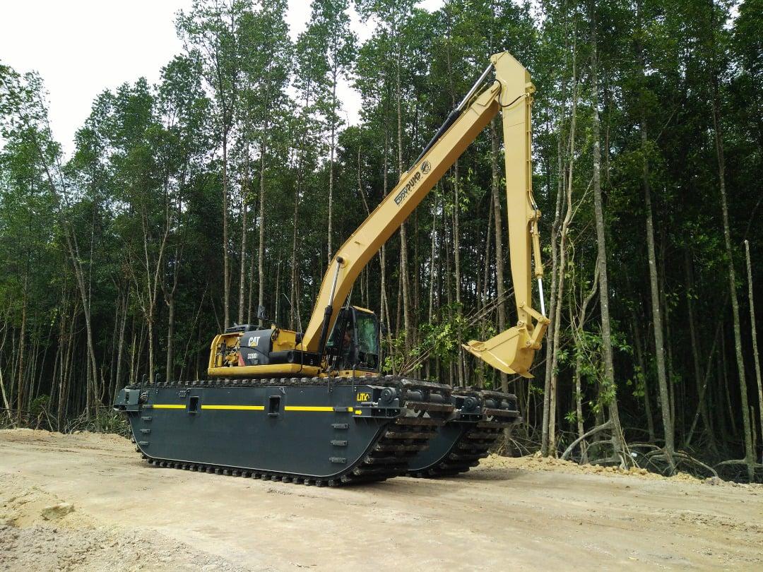 Swamp buggy tren de rodaje eddy pump excavadora