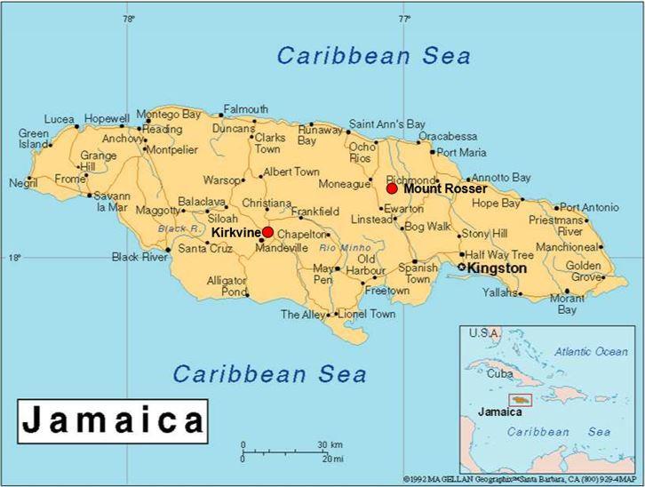 Blanco-papel-rojo-barro-jamaica-mapa-figura-1-1