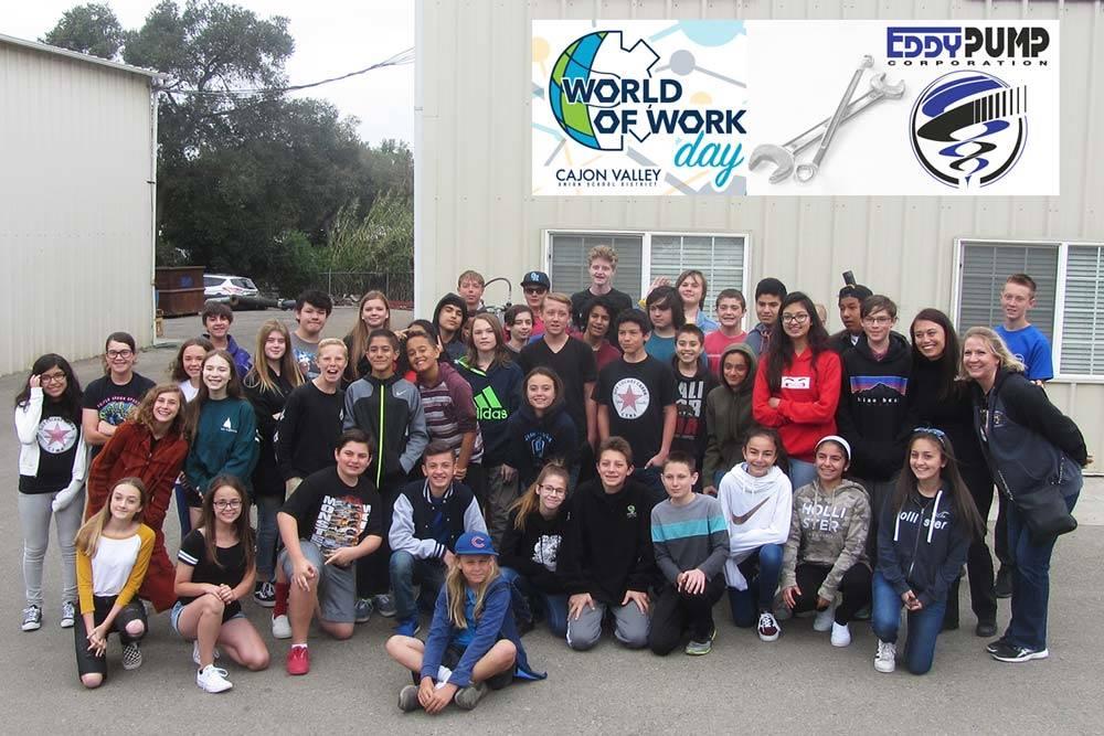 World of Work Class Gathers at Eddy Pump Headquarters