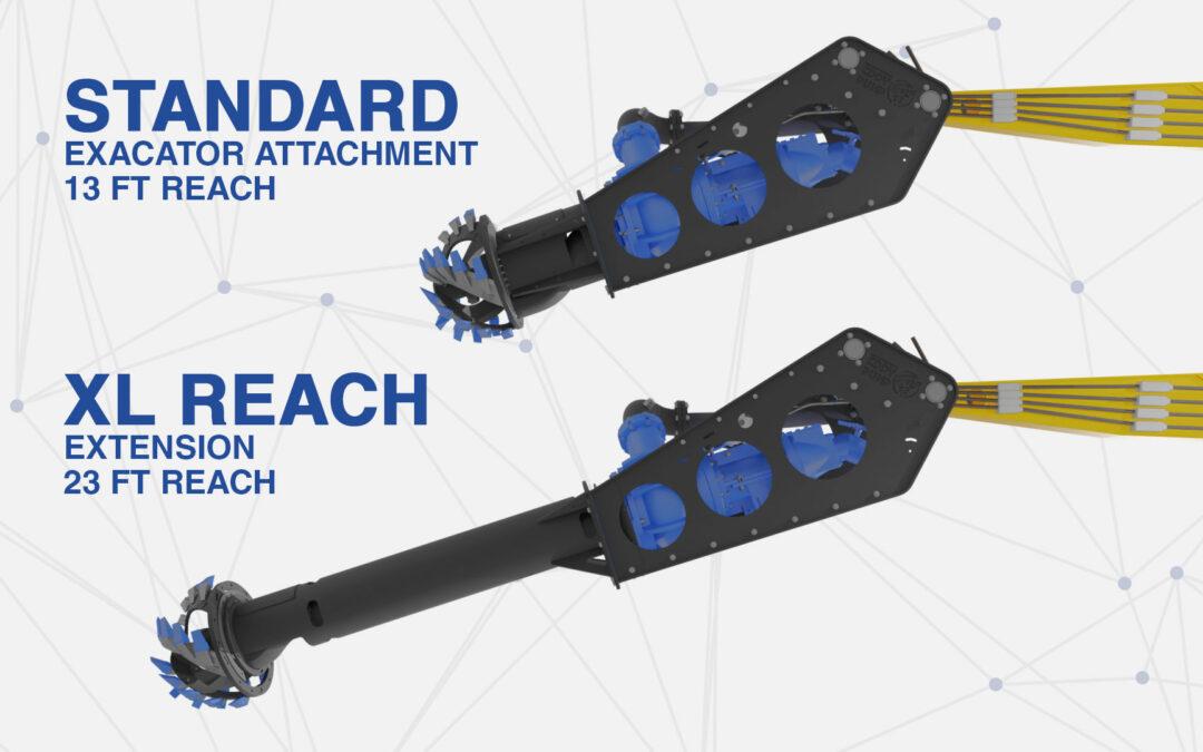 New XL REACH – Extension for Pile Construction & Marina Maintenance